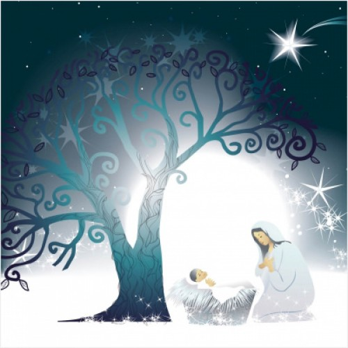Mother and Child - Small Christmas Card Pack