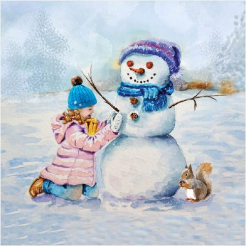 Lets Build a Snowman - Large Christmas Card Pack