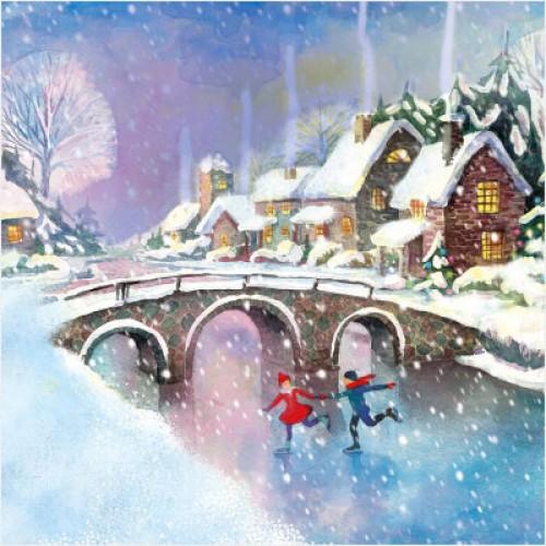 Ice Skating - Large Christmas Card Pack