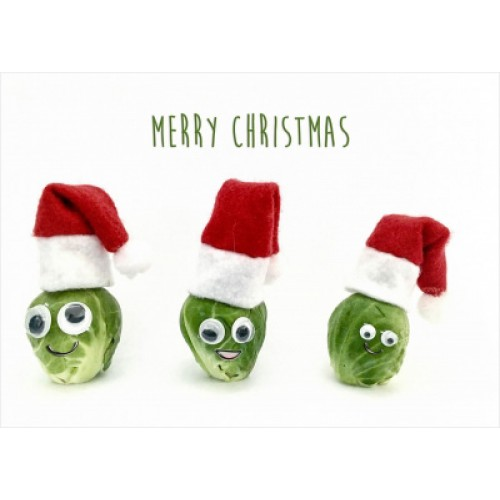 Merry Sprouts - Landscape Christmas Card Pack