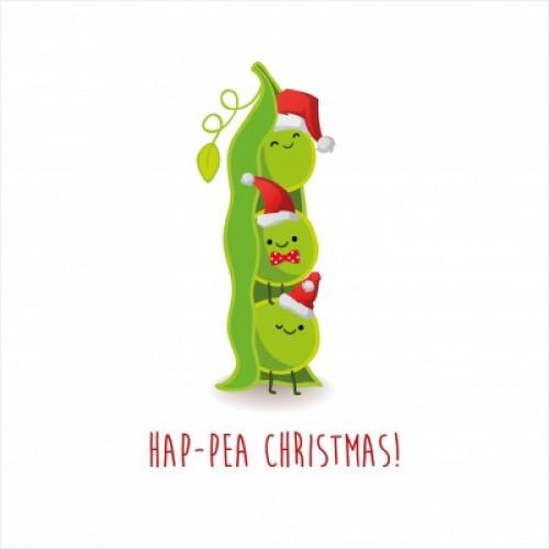 Hap-pea Christmas - Large Christmas Card Pack
