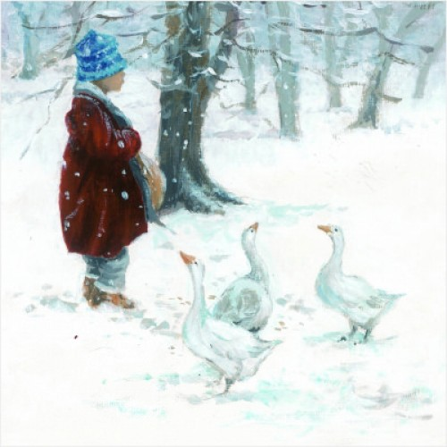 Child and Ducks - Small Christmas Card Pack