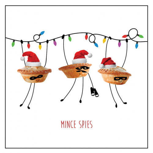Mince Spies - Large Christmas Card Pack