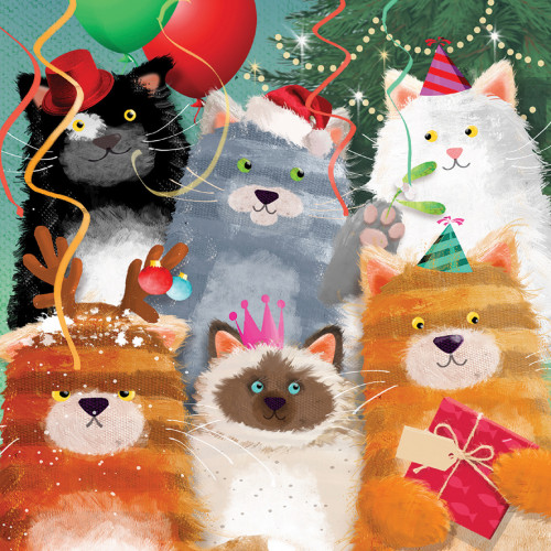 Cat Party - Large Christmas Card Pack