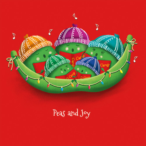 Peas and Joy - Large Christmas Card Pack
