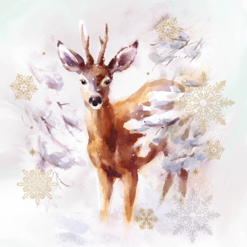 A Christmas card pack with a cute Deer