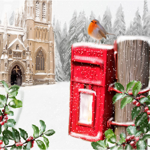 Sunday Robin - Large Christmas Card Pack