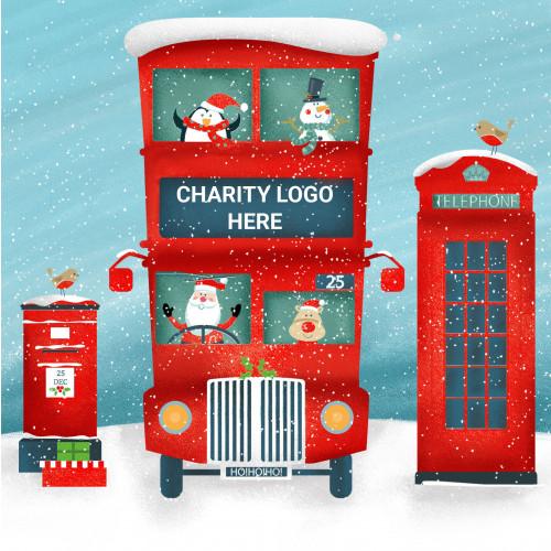 Santa's Bus- Large Personalised Christmas Card Pack