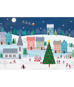 Colourful Village - Christmas Card Pack