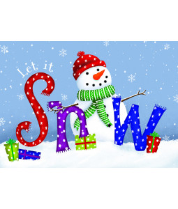 Let it Snowman - Christmas Card Pack