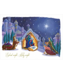 Watching Over Him - Christmas Card Pack