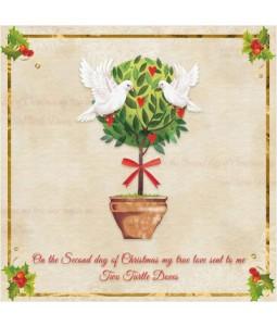 Christmas Turtle Dove - Small Christmas Card Pack
