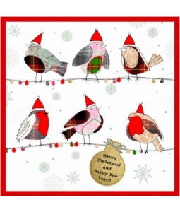 Festive Robins - Small Christmas Card Pack