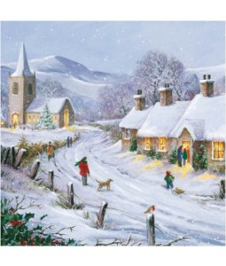 Winter Village - Small Christmas Card Pack