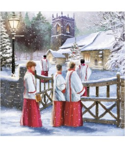 Church Scene - Large Christmas Card Pack