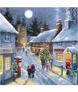 Midnight Shopping - Small Christmas Card Pack