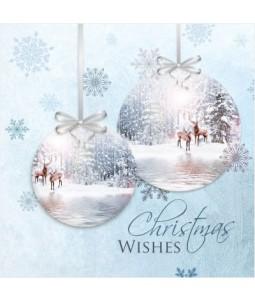 Deer Scene - Small Christmas Card Pack