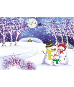 Snowman Family - Christmas Card Pack