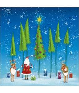 Santa In The Forest - Small Christmas Card Pack