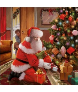 Santa and Kids - Small Christmas Card Pack