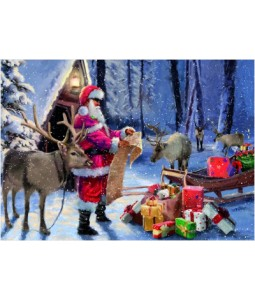Checking the Presents - Christmas Card Pack