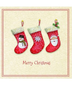 Crafted Stockings - Small Christmas Card Pack