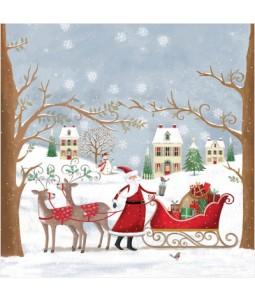 Santas Sleigh - Small Christmas Card Pack