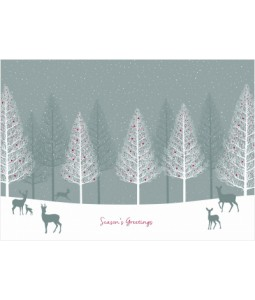 Deers in Forest - Christmas Card Pack
