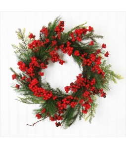 Berry Wreath - Large Christmas Card Pack