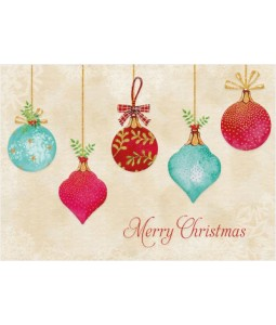 Watercolour Baubles - Christmas Card Pack