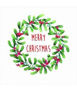 Mistletoe Wreath - Large Christmas Card Pack