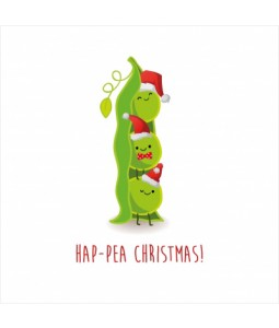 Hap-pea Christmas - Small Christmas Card Pack
