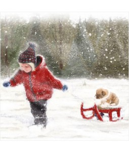 Sleigh Ride - Small Christmas Card Pack