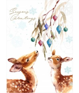 Watercolour Deer - Christmas Card Pack