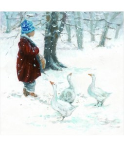 Child and Ducks - Large Christmas Card Pack