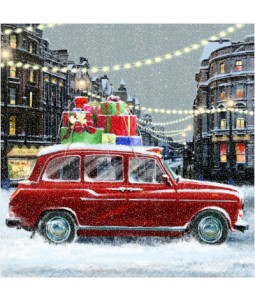 Taxi with Presents - Small Christmas Card Pack