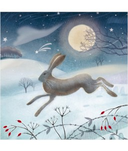 Leaping Hare - Small Christmas Card Pack