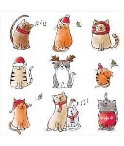 Festive Felines - Small Christmas Card Pack