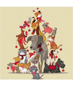 Critter Tree - Small Christmas Card Pack