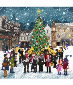 Brass Band in the Snow - Small Christmas Card Pack