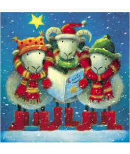 Carol Singing Sheep - Small Christmas Card Pack