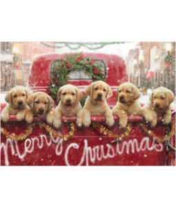 Truck full of Puppies - Christmas Card Pack