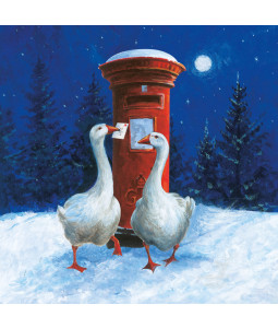 Geese and Postbox - Small Christmas Card Pack