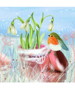 Wintertime Snowdrops - Small Christmas Card Pack