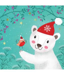 Polar Bear and Friend - Small Christmas Card Pack