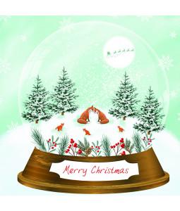 Snow Globe Fox - Large Christmas Card Pack
