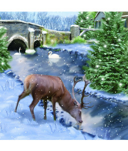 Stag Scene - Large Christmas Card Pack