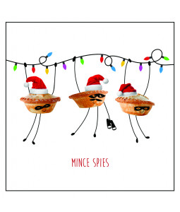 Mince Spies - Large Christmas Card Pack (