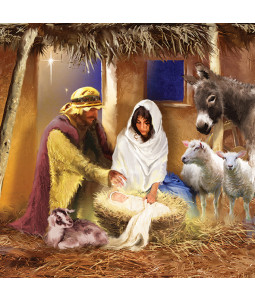 Mary and Joseph - Large Christmas Card Pack