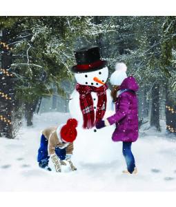 Build a Snowman - Small Christmas Card Pack